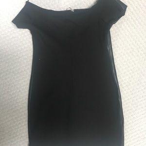 Zara Dresses - Black Zara Zip Front Leather Dress